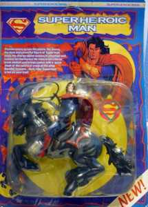 Yes, this is Superman on a horse. Not sure if they have equines like this on Krypton. If so, then they should've been wiped out by now.