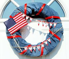 Yes, this is a denim 4th of July wreath. Hope the denim on here is from jeans made in the USA.