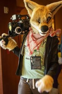 Yes, that's a dog with a camcorder. There's also a Video Hound website by the way, too.