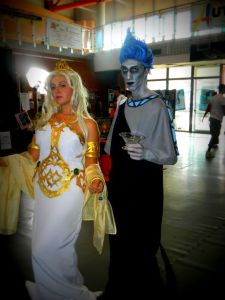 And is that Persephone? Then again, probably not. Still, that's a pretty good costume of Hades.