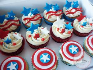 It helps that some of these even have Captain America shields on them too. Probably professionally made though.