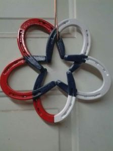Like how these form a star in the center. And how it's painted blue while the edges are red and white.