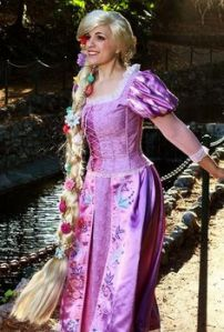 And yes, it looks pretty. Nevertheless, I wonder how Rapunzel keeps her hair so clean, neat, and shiny. Magic?