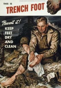 I'm sure this was endemic during WWI since troops spend long spans of time in the trenches. Yet, where would they be able to clean them?