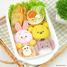 Consists of Pooh, Piglet, Tigger, and Eeyore. And yes, they're all so cute you'd want to eat them up.