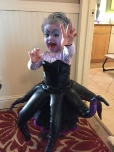 And despite her demeanor, Ursula is really not to be trusted since she only cares about herself. Still, I think this costume is adorable.