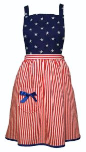 This one has a blue top with white stars. And a skirt with red and white stripes to go along with it.