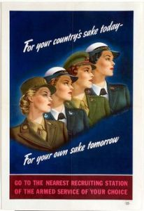 Yes, women served in the military during WWII, too. And yes, they did all kinds of things there.