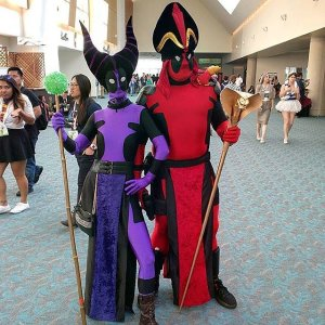 Yet, here we have a Deadpool Jafar and Maleficent. Wonder what side these two are on.