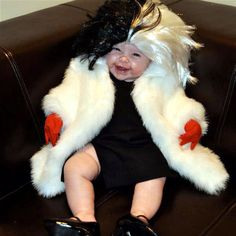 Yes, I know Cruella isn't nice, especially to animals. But this costume is so cute.