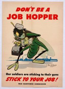 Like how the job hopper is depicted as an insect with a hat and lunch box. So funny.