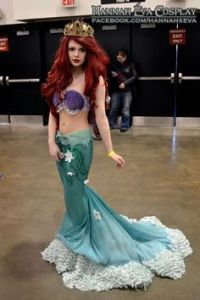 I'm not sure if Ariel has surfaced that way. But I think this is a fine costume.