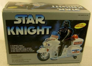 I think putting Darth Vader on a police motorcycle is beneath his dignity. Also, kind of makes it hard to take a guy who chopped off his son's hand seriously.