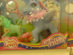 "Like how this tries to sell itself as ""Demon Donkey."" Well, these don't look like demon donkeys to me. Really they don't."