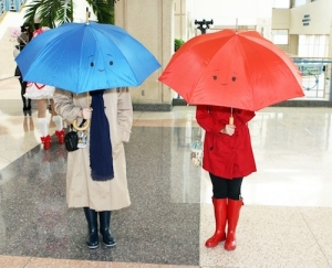 This must be from a Pixar short I've never seen. Because I don't recognize the umbrellas here.
