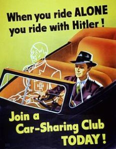 So carpool whenever you can. You don't want an invisible Hitler in the passenger seat. You really don't.