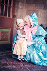 Look, I know the Fairy Godmother should've been there for Cinderella sooner. But this is a very cute photo op.
