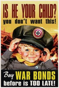 Now this is a poster that'll make any parent scared. Yeah, you don't want your kids growing up Nazi.