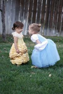 Yes, Cindy, rub it in Belle's face. Nevertheless, these girls are so adorable in their dress.
