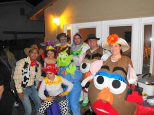 I think this might be a group costume idea for a Halloween party. Like the Potato Heads.