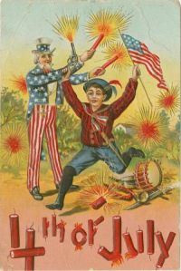 And again, a boy is surrounded by explosives and weapons. But no one is giving a damn as always in these cards. Not even Uncle Sam himself if he counts as adult supervision.