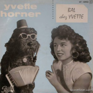 A smoking dog playing the accordion? Now that's pretty messed up. Wonder how they came up with that idea.