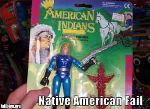 Uh, that looks nothing like a Native American from the 19th century. More like a white American from the 20th or later with a pig gun, a spandex outfit, and a totem pole.