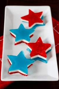 Yes, I had red, white, and blue jello stars on here before. But these are made much differently than the ones I showed previously. So they go on the post.