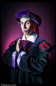 Sure Frollo has a cool outfit. But his falling off Notre Dame's roof and into molten metal. Bye, bye, Frollo. You won't be missed.