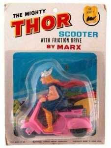 Didn't know Thor had a pink motorcycle. Not sure if that color suits him. Then again, to each his own.