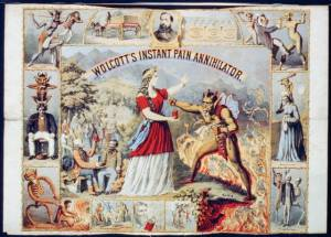 I'm sure this is bound to have the same medicinal properties as snake oil. But the artwork advertising is pretty badass.