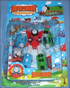Oh, my God. Now this Thomas the Transformer will allow kids to play Transformers and Thomas the Tank Engine. This is absolutely hilarious.