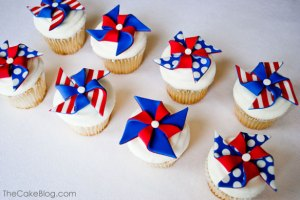 And I'm positive these came straight out of a bakery. But I love the pinwheels on them.