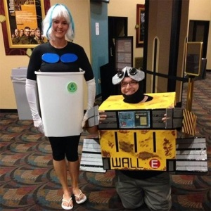 Well, her costume was made from a trash bin. Like the WALL-E one, too.