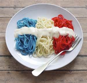 And yes, it includes red, white, and blue pasta with alfredo sauce. But I'm sure any patriotic child will love it.