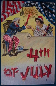 "From Babble: ""It looks like Uncle Sam is about to set her hair on fire."" Wouldn't be surprised if that was the case."