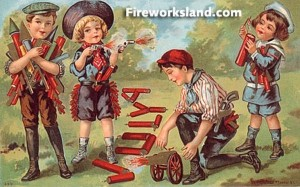 Oh, God, don't tell me these kids are about to set off fireworks. Seriously, did these parents ever teach them some common sense? Or are they severely lacking in that department?