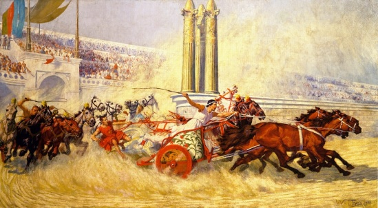 William-Trego-xx-The-Chariot-Race-from-Ben-Hur-xx-James-A-Michener-Art-Museum