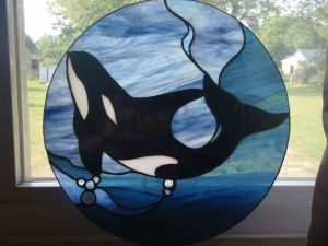 Like I said, stained glass ocean scenes are a thing. And orcas sure are popular.