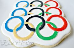 These are professionally made. But I had to include them on this Olympic treat post.
