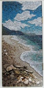 There are a lot of beach scene mosaics on Pinterest. But I think this is probably the best one.
