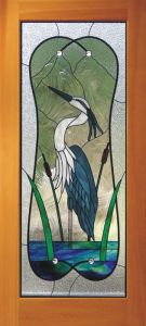 I know this isn't a Great Blue Heron since it has dark blue feathers. Not sure when this was made either because it seems quite stylized.