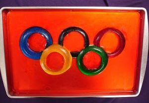 I guess mold were used for this dish. Like the Olympic rings though.
