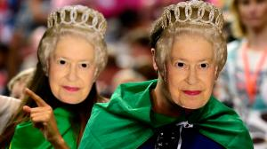 Because they're British and the Queen is part of their tradition. Still, looks kind of creepy.