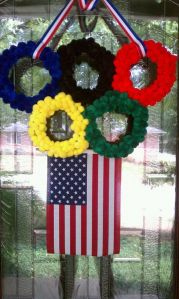 This looks quite inventive. Bet this is to show support for Team USA no doubt.