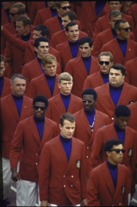 "From Ugly Sweaters: ""This badass team had soul. Solid! Coincidentally the singing group ""Color Me Bad"" would try to resurrect this look later but it looked a little more… jive-ass."" Apparently, this fashion was all the rage at the time."