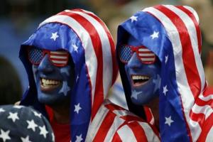 These two are wearing flag faces, have flag painted faces, and are don flag shades. So their patriotism should be unquestioned.