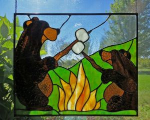 I know Smokey the Bear might not approve of this. But I think it's cute, especially since it has an adult bear and cub.