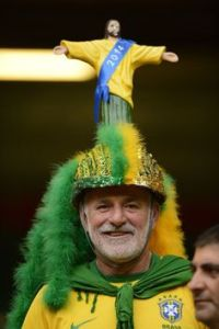 Because he's wearing a Rio hat from the looks of it. Must be Brazilian.