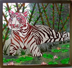Not sure about the stripes being pink. And I don't think the tiger looks very happy.
